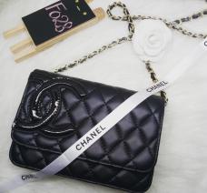 Túi Chanel Katun logo lệch
