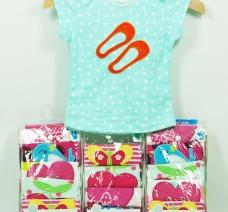 Set 5 áo hình thú bé gái