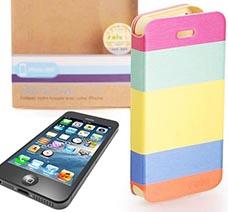Bao da ốp lưng cho iPhone 5/5S sắc màu