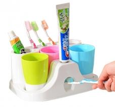 Bộ Kệ Bàn Chảy, Kem Đánh Răng Và 3 Cốc Súc Miệng
