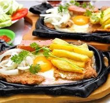 Chảo Gang Chống Dính Làm Bò Bít Tết Trứng Ốp La
