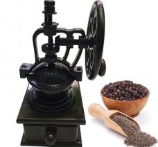 Cối xay tiêu, cafe, đậu gỗ có trục quay độc đáo