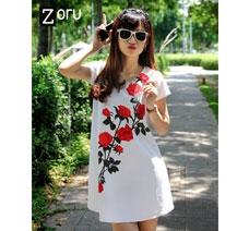 Đầm Oversize Hoa Hồng