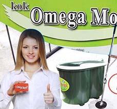 Bộ Lau Nhà Omega Mop Xô Xanh Có Đế Giặt Bông Thông Minh