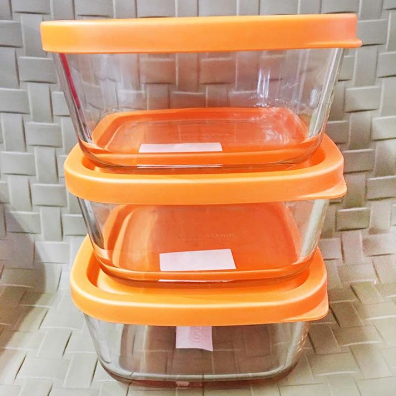 Bộ 3 hộp Lock&Lock nắp silicon tặng túi giữ nhiệt
