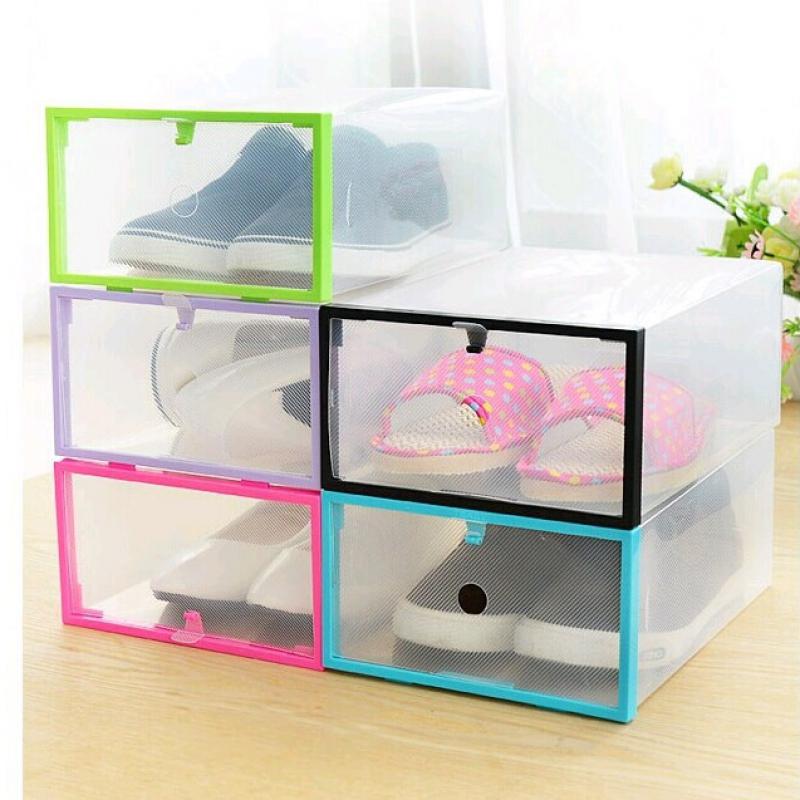 Bộ 5 Hộp Đựng Giày Dép Có Khung Viền Nhựa