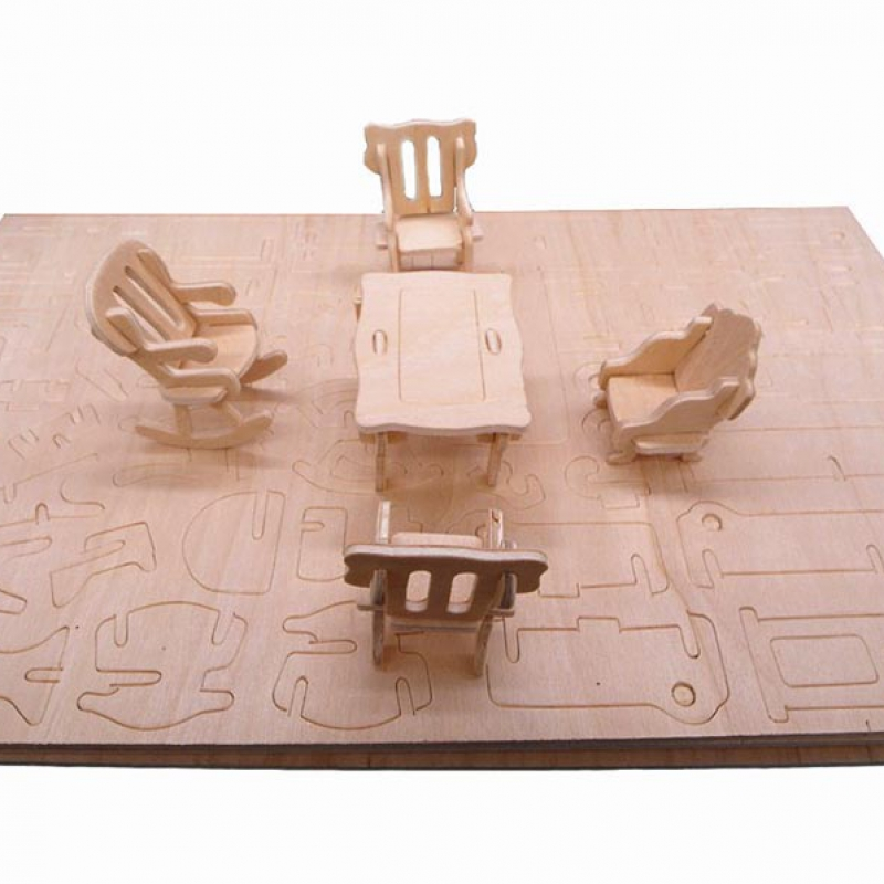 Bộ đồ chơi xếp hình 3D bằng gỗ giúp bé phát triển tư duy sáng tạo