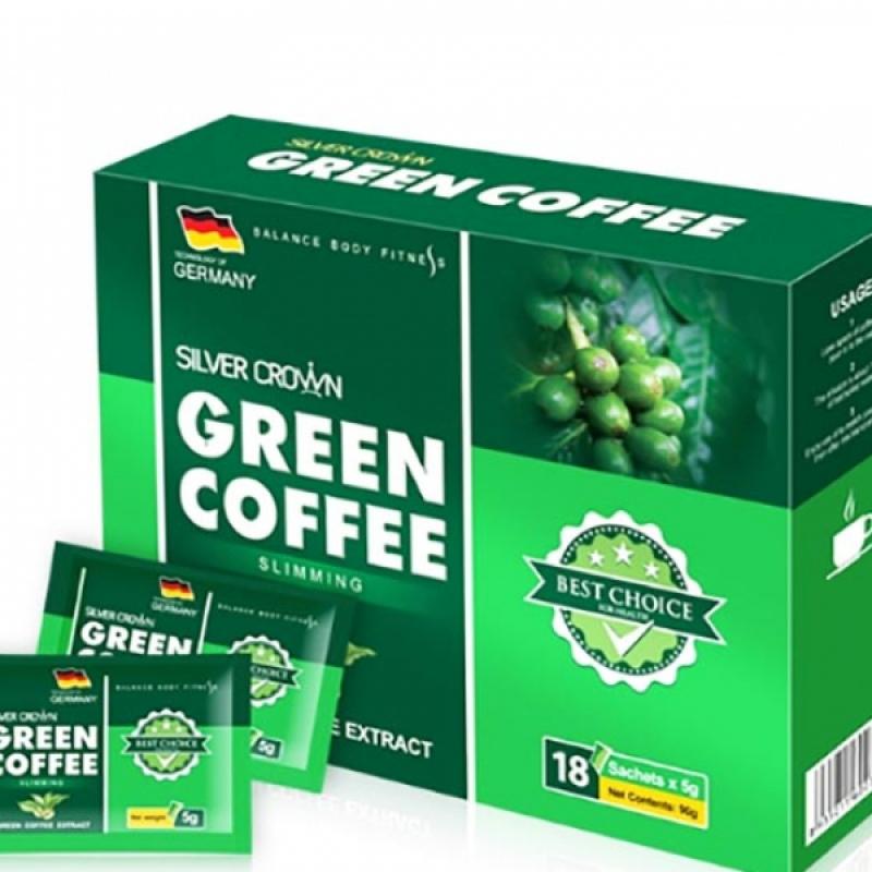 Cà phê giảm cân Green Coffee Silver Crown Đức