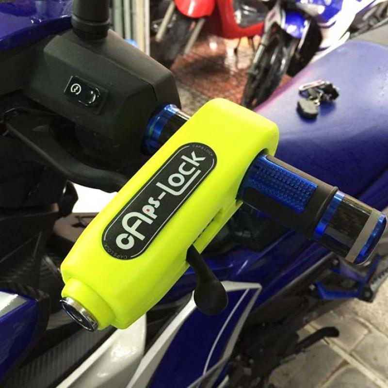 Khóa xe máy tay phanh Caps Lock