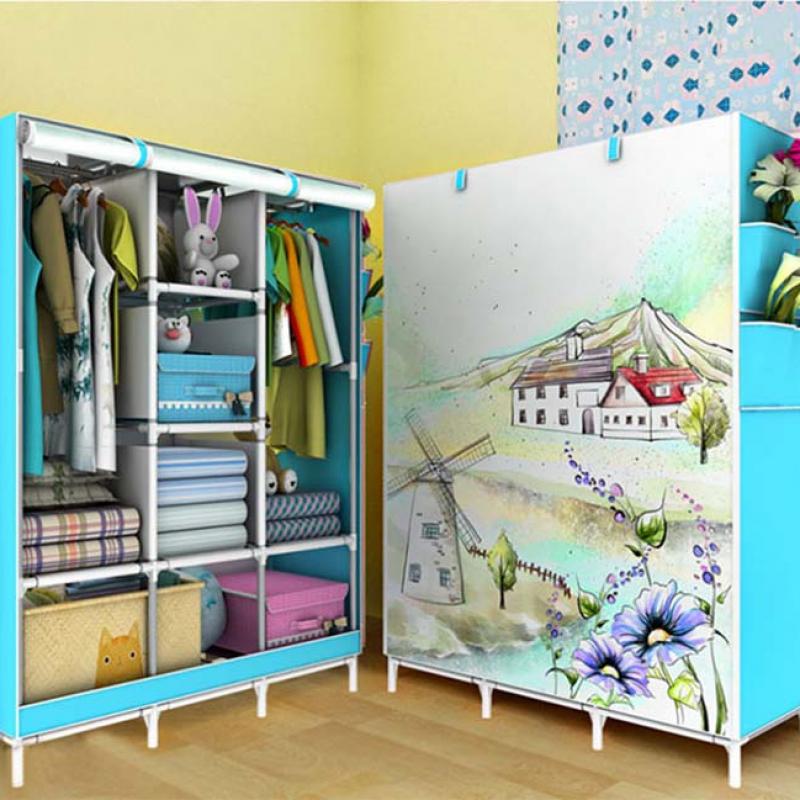 Tủ vải 3D 6 ngăn nhỏ và 2 buồng chống thấm mốc