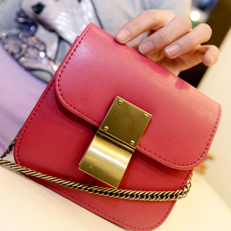 Túi xách mini khóa kẹp nhỏ gọn, xinh xắn