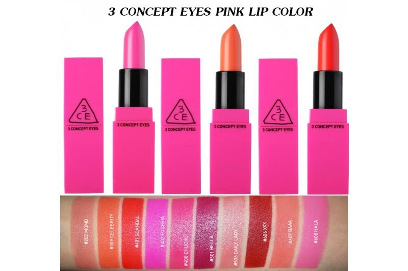 3CE Pink Lip Colour