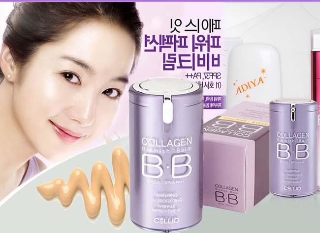Kem Nền Cellio Collagen Blemish Balm B.B Hàn Quốc