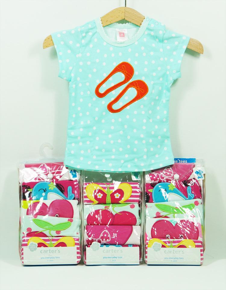 123mua Set 5 áo hình thú bé gái