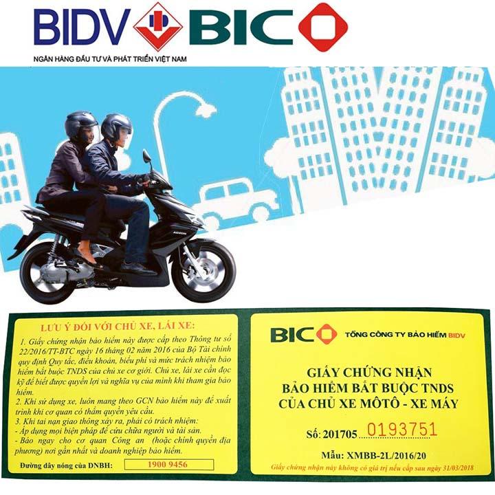 Bảo Hiểm BIDV 2 Năm Bắt Buộc Cho Xe Máy giá rẻ