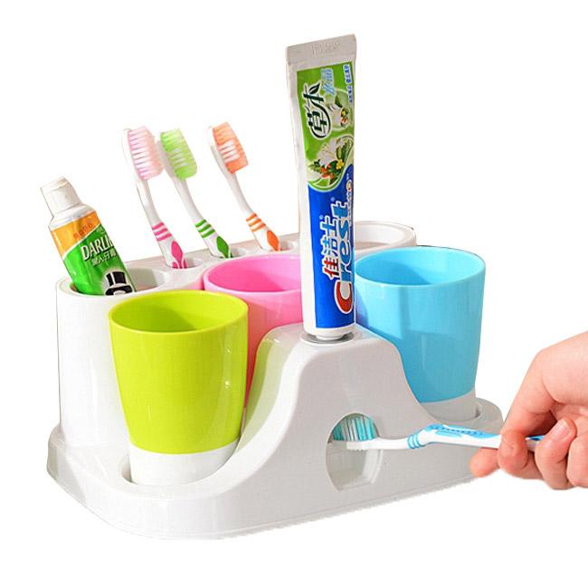 Bộ Kệ Bàn Chảy, Kem Đánh Răng Và 3 Cốc Súc Miệng giá rẻ