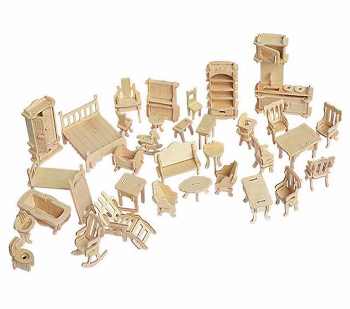 Bộ đồ chơi xếp hình 3D bằng gỗ giúp bé phát triển tư duy sáng tạo giá rẻ