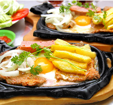 Chảo Gang Chống Dính Làm Bò Bít Tết Trứng Ốp La giá rẻ