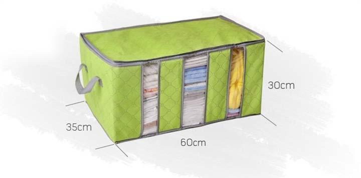123mua Hộp vải 3 ngăn đựng quần áo tiện dụng