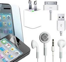 Bộ Sạc + Cáp + Tai Nghe + Miếng Dán Màn Hình Iphone giá rẻ