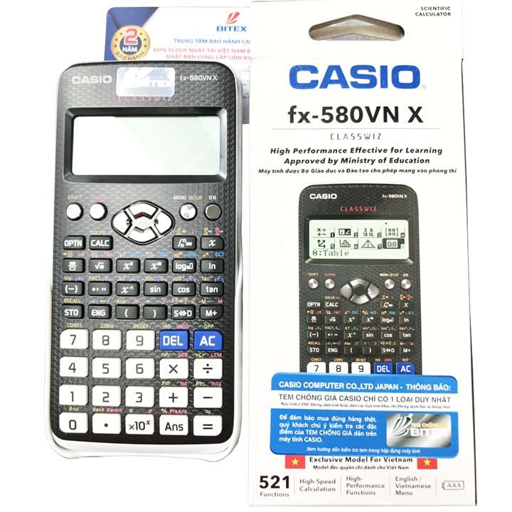 Máy tính CASIO FX 580VNX Chính Hãng giá rẻ