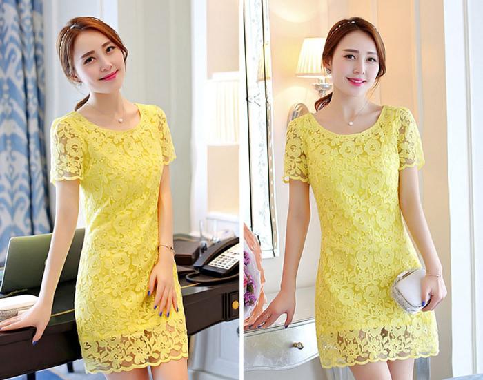 Đầm Ren Nổi Họa Tiết Cành Hồng Thời Trang Jenna giá rẻ