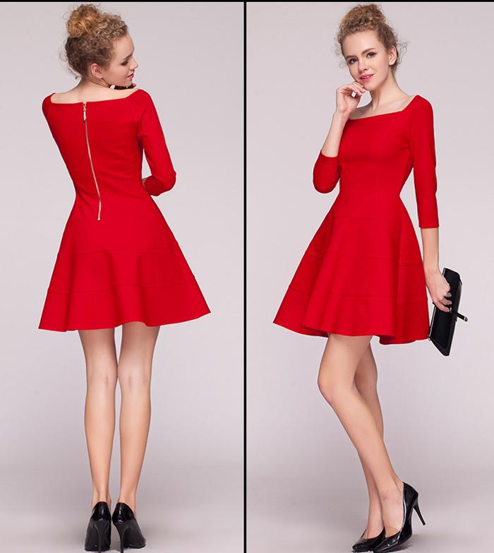 Đầm Xòe Rả Tầng Tay Raplan Phong Cách Trẻ Trung giá rẻ
