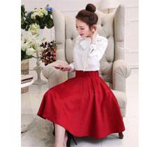 Set Áo Nơ Váy Đỏ giá rẻ