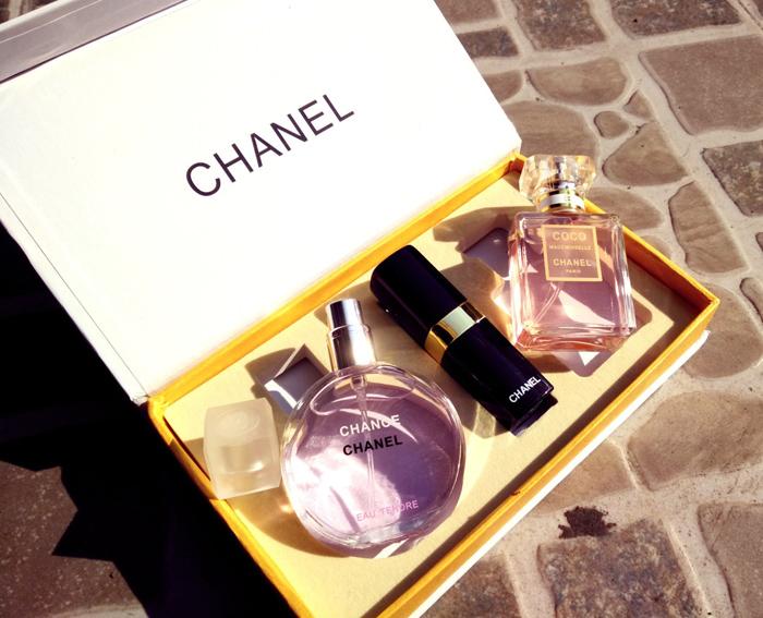 Set 2 Chai Nước Hoa Chanel + Son Môi giá rẻ