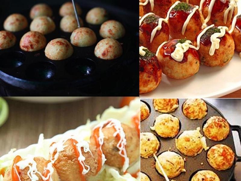 123mua Khuôn làm bánh bạch tuộc Takoyaki Nhật