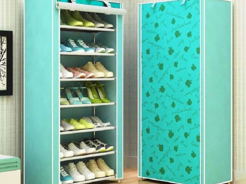 Tủ Vải Đựng Giày Dép 8 Tầng Hoa Văn Cao Cấp giá rẻ