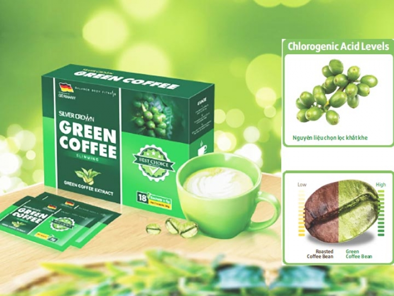 Cà phê giảm cân Green Coffee Silver Crown Đức giá rẻ